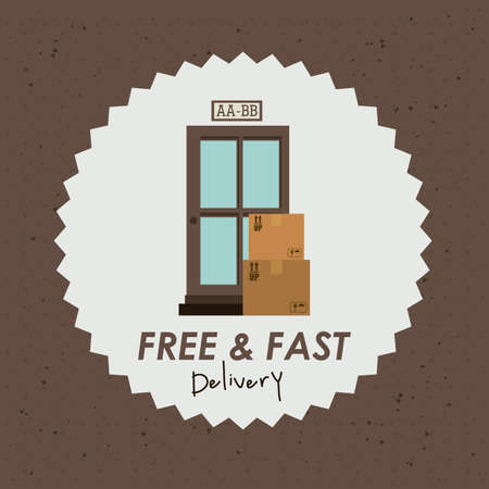 Delivery design over brown background, vector illustration Stock Vector - 27175267
