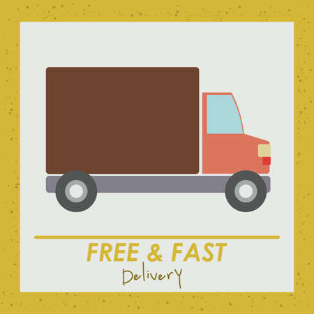 Delivery design over yellow background, vector illustration Stock Vector - 27175269