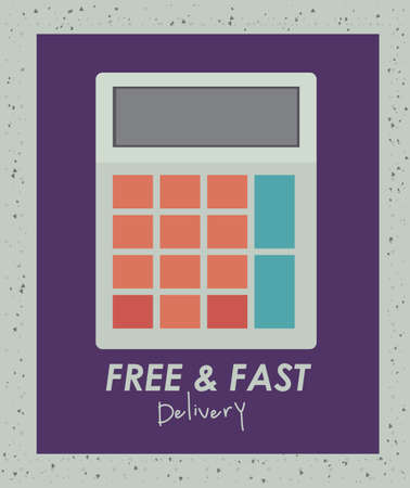 Delivery design over gray background, vector illustration Stock Vector - 27175271