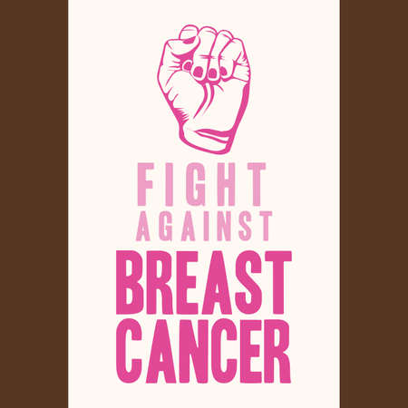 breast cancer over  brown background vector illustration Vector