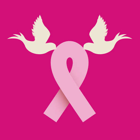breast cancer over  pink  background vector illustration Vector
