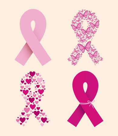 skin cancer: breast cancer over white background vector illustration Illustration