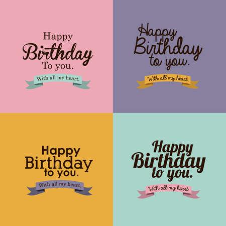 happy birthday  design Stock Vector - 27181409
