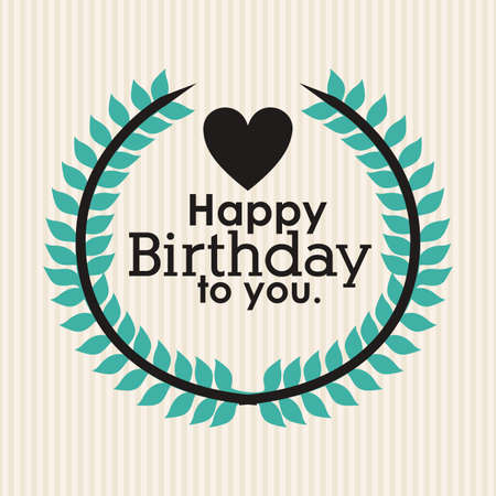 happy birthday  design over lineal background vector illustration Stock Vector - 27181415
