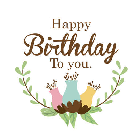 happy birthday  design over white background vector illustration  Stock Vector - 27181424