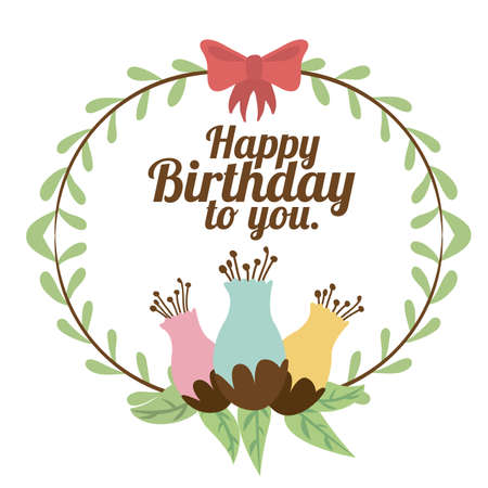 happy birthday  design over white background vector illustration Stock Vector - 27181601