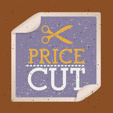 better price: shopping design over brown  background vector illustration