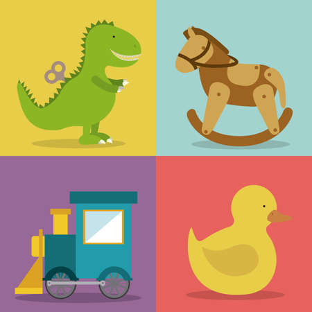 baby toys design over  colors background vector illustration Vector