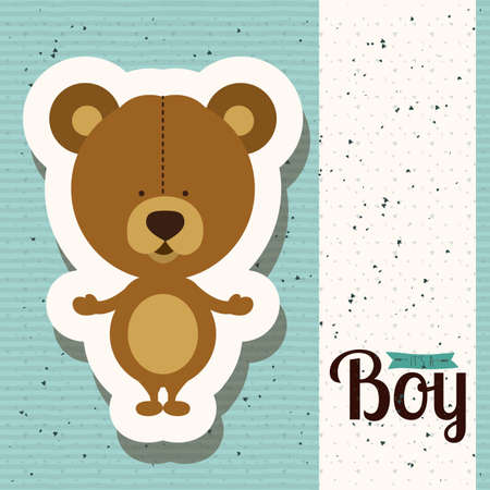 its a boy over blue  background vector illustration Illustration