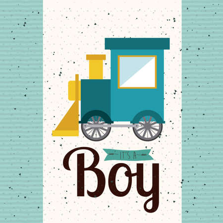 its a boy over dotted  background vector illustration