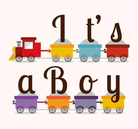 its a boy design  Vector