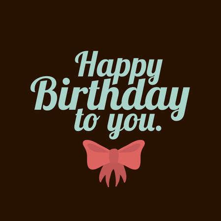 backgrund: happy birthday  design over black backgrund vector illustration  Illustration