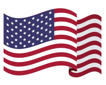 us flag: usa design over white  background vector illustration