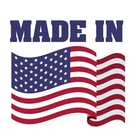 白い背景ベクトル イラスト米国デザイン