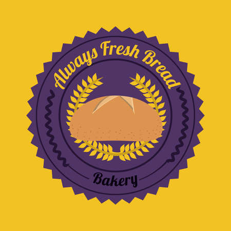 bakery design over yellow    background vector illustration   Vector