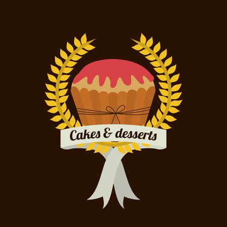 bakery design over   black background vector illustration   Vector