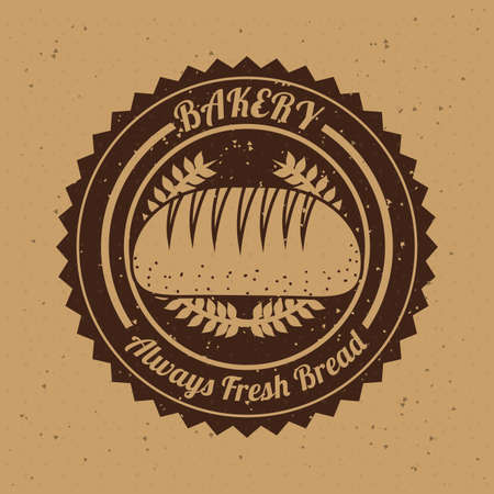 bakery design over   beige background vector illustration   Vector