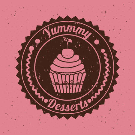 bakery design over pink   background vector illustration   Vector