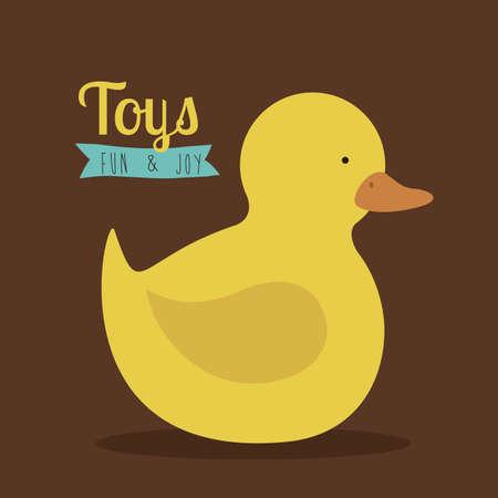 duck over brown   background vector illustration Vector