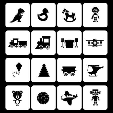 baby toys design over black   background vector illustration Vector