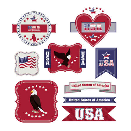 usa design over white background vector illustration  Vector