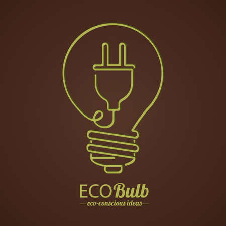 megvilágít: bulb design over brown background, vector illustration