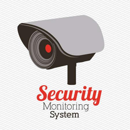 secret service: Security design over gray background, vector illustration Illustration