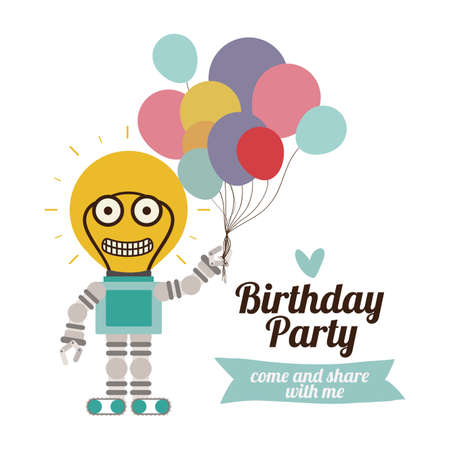 Birthday party design over white background,vector illustration Vector