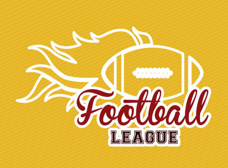 American football design over yellow background,vector illustration