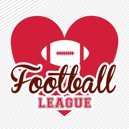 American football design over white background,vector illustration Vector