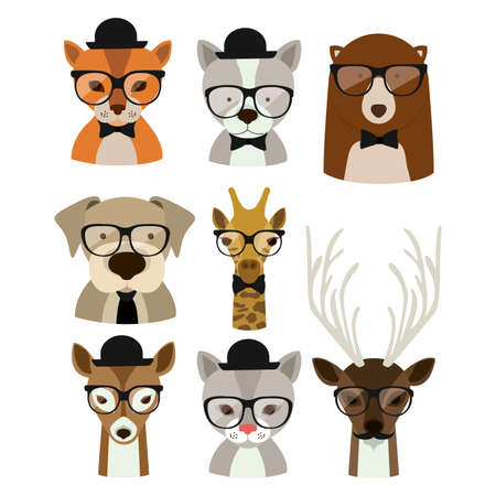 Animal hipster design  Stock Illustratie