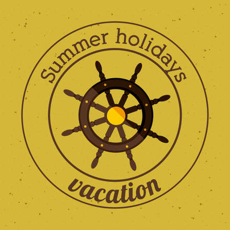 Summer holidays design over yellow background, vector illustration