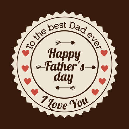 Fathers day design over brown background, vector illustration Vector