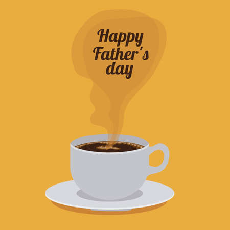 hot day: Fathers day design over yellow background, vector illustration