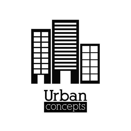 enviromental: Urban design over white background, vector illustration