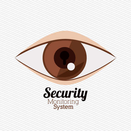 eye protectors: Security design over white background, vector illustration