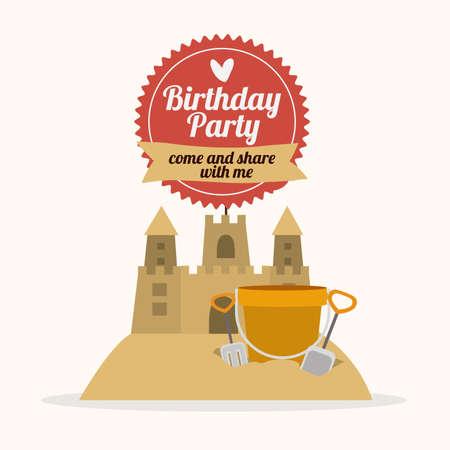 Birthday party design Illustration
