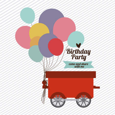 Birthday party design over white background,vector illustration