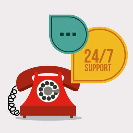 tech support: support design over gray background, vector illustration Illustration
