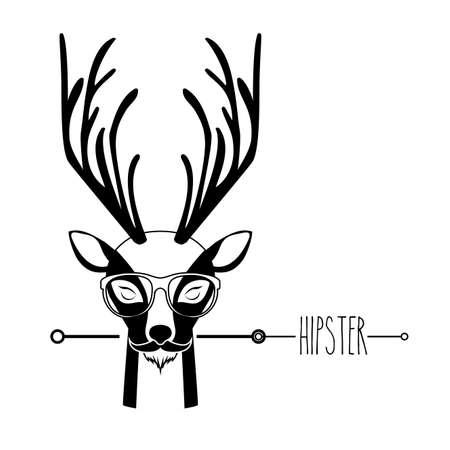 Animal hipster design over white background,vector illustration Vector