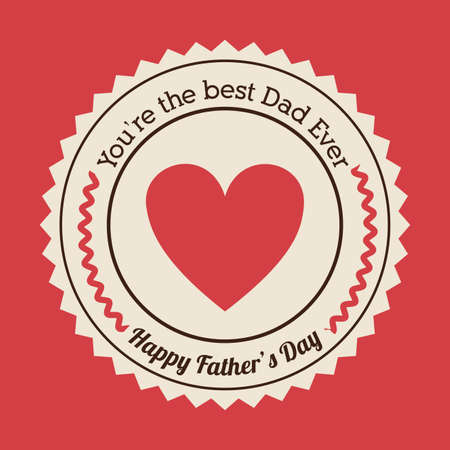 Fathers day design over red background, vector illustration Vector