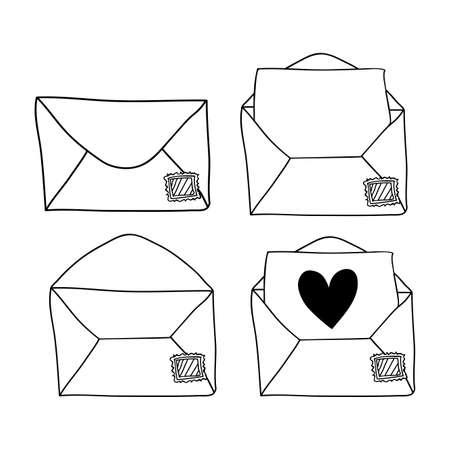 Love letters design over white background, vector illustration Vector
