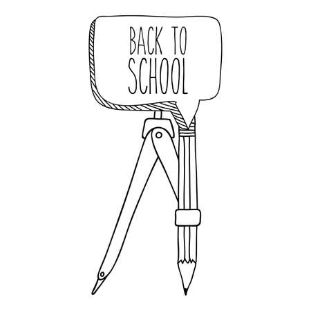 Back to School design over white background, vector illustration Vector
