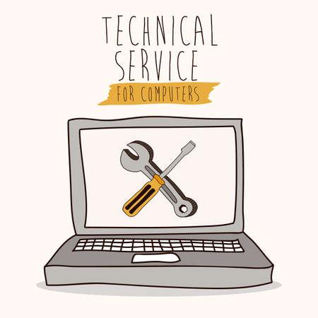 home maintenance: Technical service design  Illustration