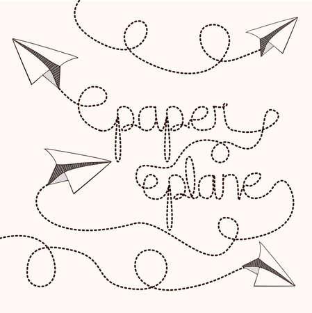 Paper plane design   Vectores