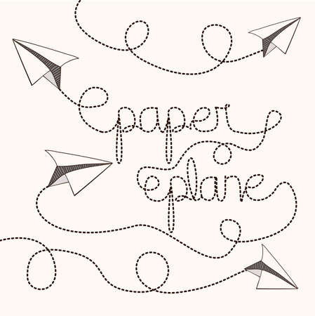 Paper plane design   Illustration