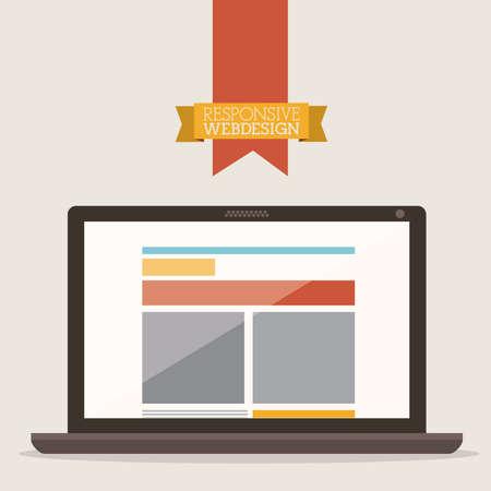 Web design over beige background, vector illustration Stock Vector - 27182918