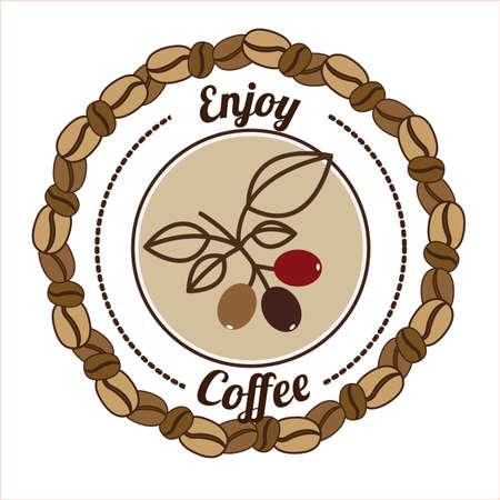 Coffee design over white background, vector illustration Vector