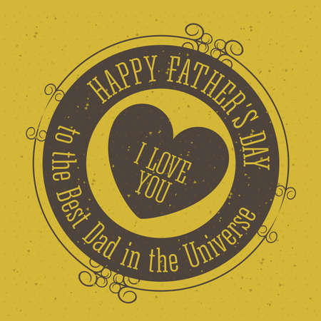 Fathers  day design over yellow background, vector illustration Vector