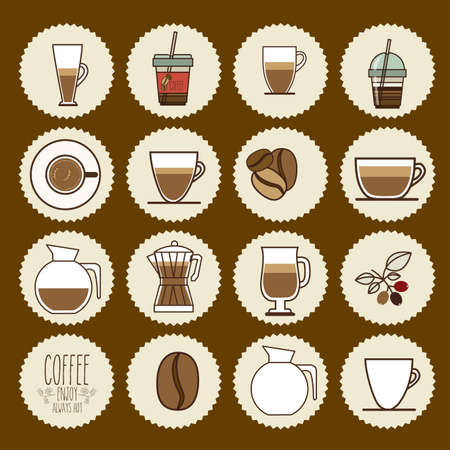 fag: Coffee design over brown background, vector illustration
